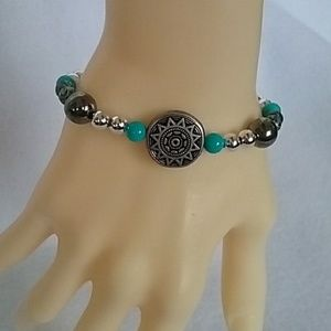 NWT Turquoise and silver western bracelet